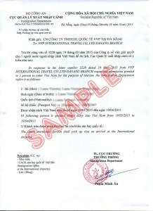approval letter во Вьетнам