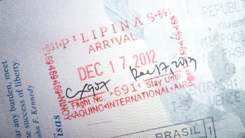Штамп о въезде на Филиппины
