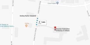 Как доехать до российского посольства в Анкаре, Турция