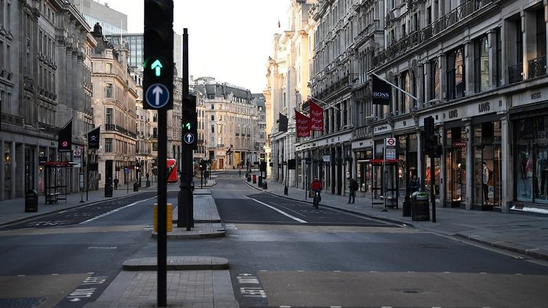 Пустые улицы Лондона. Фото: REUTERS/Dylan Martinez