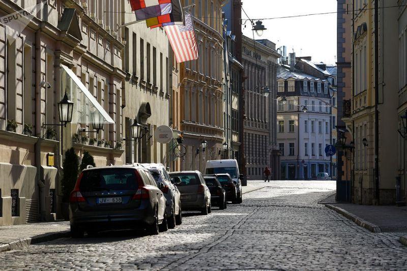 Пустые улицы Риги. Фото: Sputnik / Sergey Melkonovl