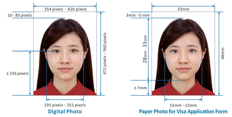 Как сделать электронное фото для визы
