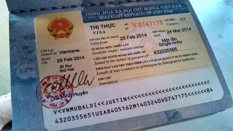 Виза во Вьетнам по прилете