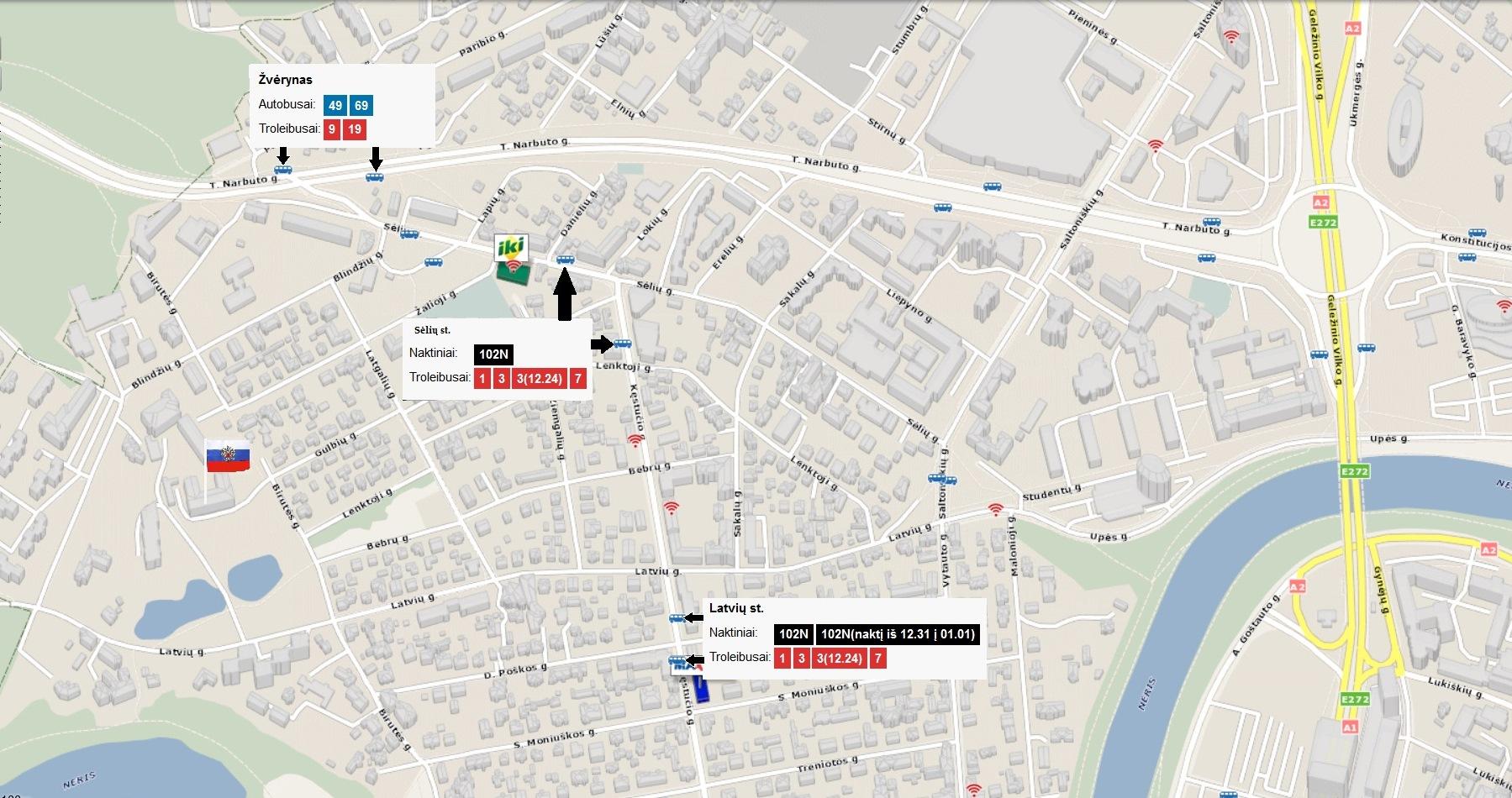 Посольство России в Литве: карта проезда