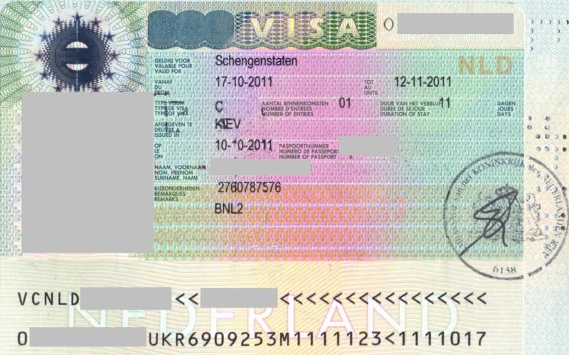 Шенгенская виза в Нидерланды для россиян (3)